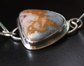 Rocky butte jasper sterling silver cabochon bracelet