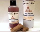 Dirty Dog™ Organic Conditioning Natural Shampoo and Dry Powder Refresher Shampoo Set - Deter Fleas | No Sulfates or Parabens | Vegan