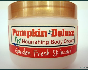 Pumpkin Nourishing Natural Luxury Spa Body Cream with Nourishing Shea , Mango , Jojoba Butter | Vegan | No Mineral Oil , No Parabens - 8 oz
