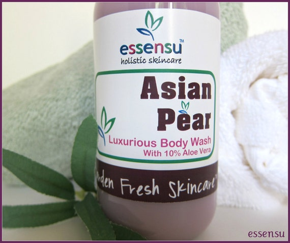 Asian Pear Aloe Vera Luxury Ultra Moisturizing Soya Body Wash | Vegan | Sulfate , Paraben and Phthalate Free - 9 oz