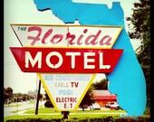 "5""x5"" Florida Motel, Gainesville, Florida Print Square Photo"