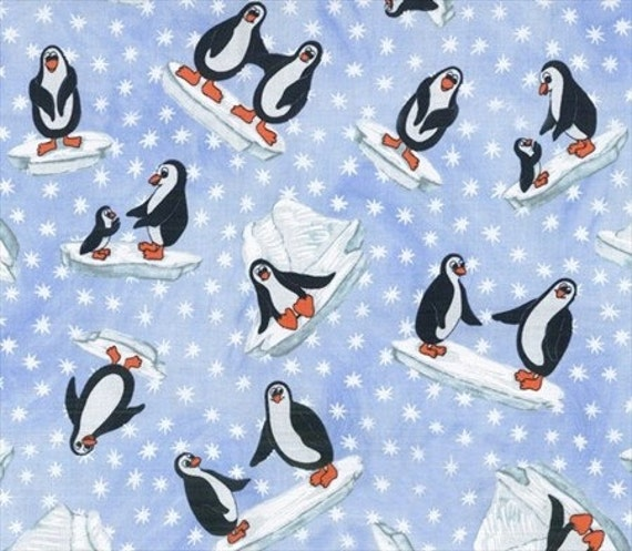 BLOWOUT SALE - 50% Off - Blank Quilting - Polar Opposites - Penguins - Quilt Fabric