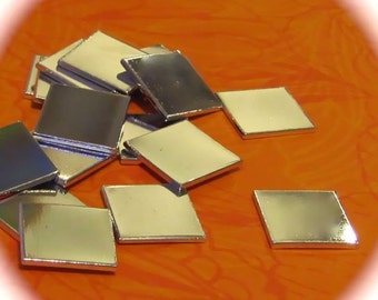 "20 - 1"" Square Medium Weight 18 Gauge Pure Aluminum Tumbled - QTY 20"