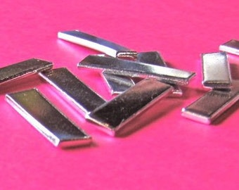 12 Blanks - 1/4 Inch by 1inch Rectangles - 14 Gauge - Heavy Weight- 1100 Pure Aluminum - Tumbled- QTY 12