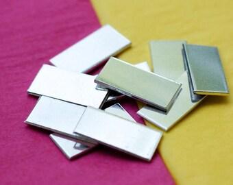 "50 Blanks 3/4"" x 2"" Tumbled Rectangles 14 Gauge - 1100 Pure Aluminum - QTY 50"