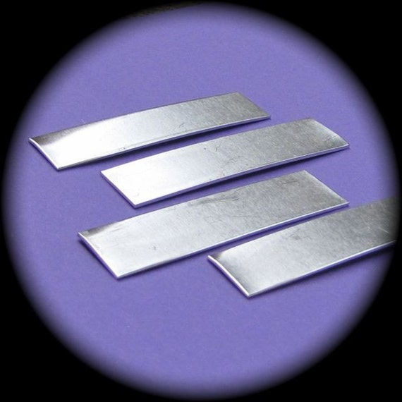 24 Blanks 1/2 x 1-1/2 Inch Rectangles 14 Gauge Tumble Polished Pure Food Safe Aluminum - 24 Blanks