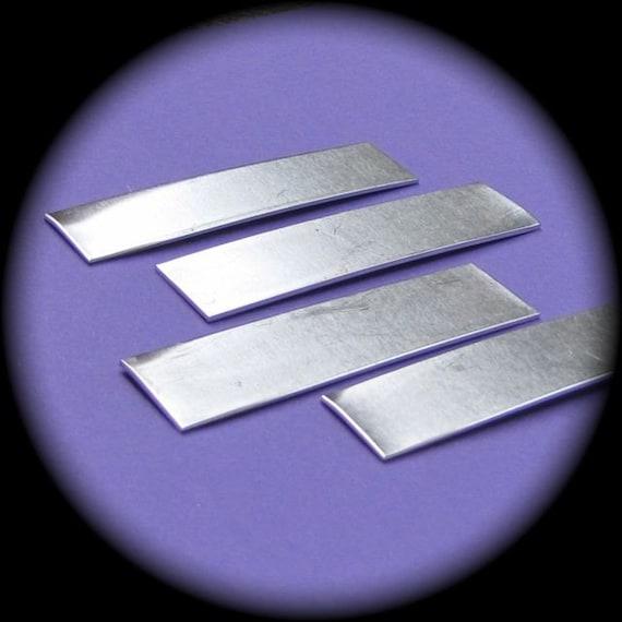 "40 Blanks 1/2"" x 2"" Tumble Polished Rectangles 14 Gauge Pure Food Safe Aluminum - 40 Blanks"