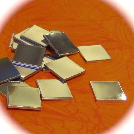 """5 - 1"""" Square Medium Weight 18 Gauge Pure Aluminum Tumbled - QTY 5"""