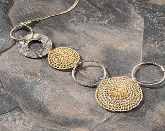 TRE'SOR, Necklace, gold, silver (OOAK)