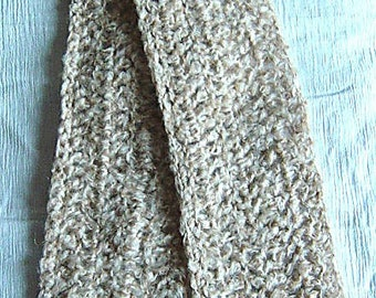 048 - Ivory, Beige and Tan Scarf