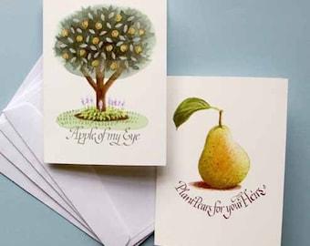 FRUITS, set of 4 Art Cards