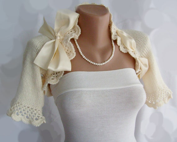 Bridal Shrug Knit Wedding Bolero Jacket