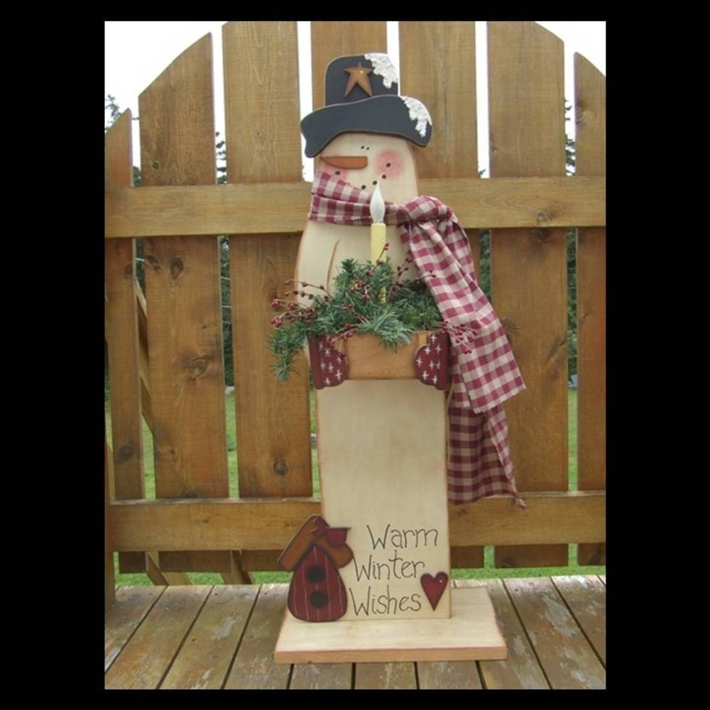 Primitive Crafts: Digital Pattern Packet Primitive Snowman By