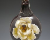 Handblown Imploded Glass Flower Necklace
