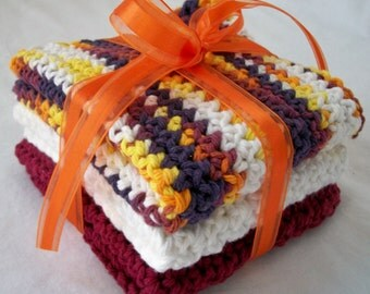 Fall Colors Dish Cloth Set