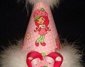 Strawberry Shortcake Custom Birthday Party Hat Favors...1st Birthday...Dress up