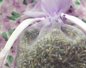 Lavender Sachet - Lavendar Filled Organdy Shower Favor - Organza Teacher Gift