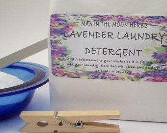 Lavender Laundry Detergent - 24 Load Bag Eco Friendly Natural Essential Oil Scented Laundry and Cleaning
