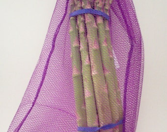 Reusable Produce Bags - Purple Unpaper Towel Bags - Eco Kitchen  - Set of 2 - Gifts for Cooks - Eco Friendly Plastic Alternative