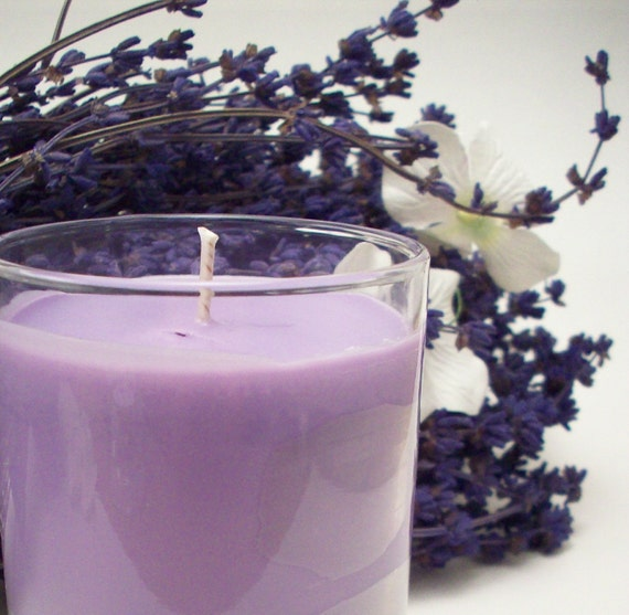 Lavender Essential Oil  Soy Candle - Lavendar Aromatherapy - Decor and Housewares