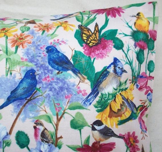 Bird Pillow Buckwheat with Lavender Song Bird Meadow Spring Decor on Etsy