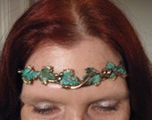 tiara, circlet, headband crown with or without the green on the leaves