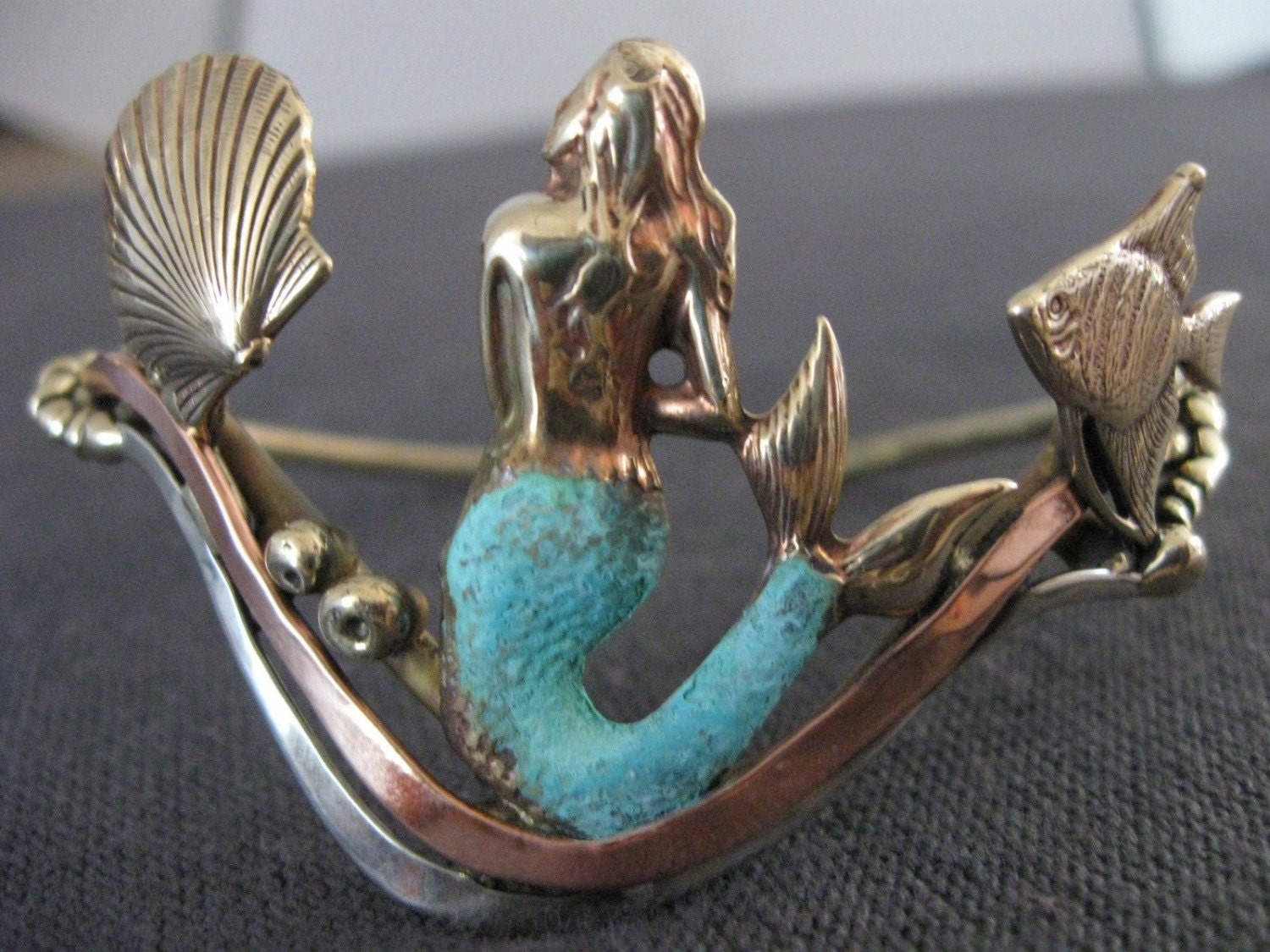 Mermaid Bracelet Bronze Copper Silver