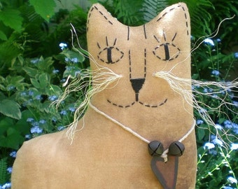 Jasper The Extreme Primitive Folk Art Kitty Cat Doll