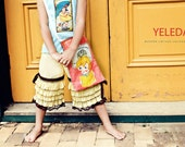 Mila Vintage look Saffron Ruffled Pants  1 2 3 4 5