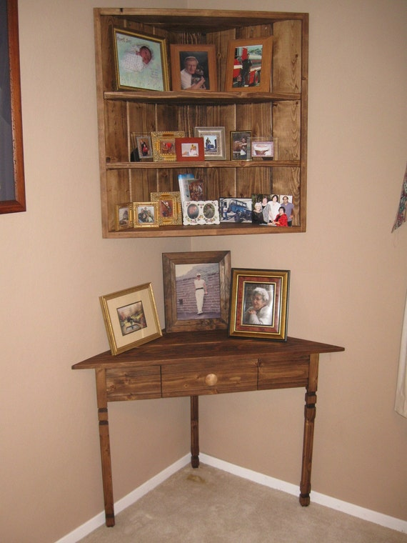 corner shelving units items similar to corner table and matching corner shelf 13997