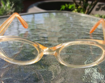 Peachy Keen Vintage 1950's glasses- REDUCED