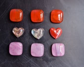I love you  Fused Glass Strong Magnets