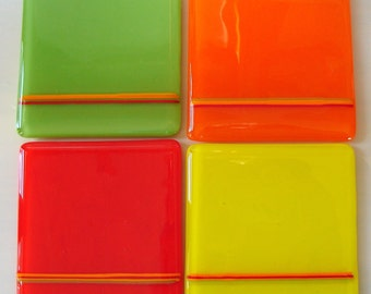 Fiesta Fused Glass Coasters