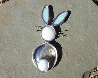 Baby Bunny Stained  Glass Suncatcher