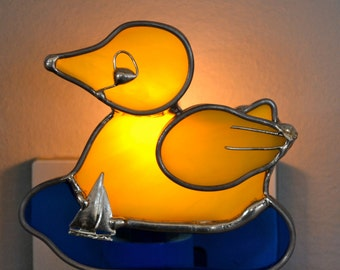 Rubber Ducky  Stained Glass Nightlight