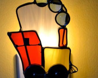 Choo Choo Train  Stained Glass Nightlight