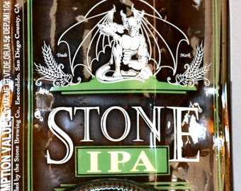 Stone IPA Gargoyle Slumped Beer Bottle