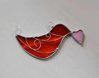 Messenger of Love Stained Glass  Suncatcher