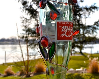 Trash to Treasure Hummingbird Feeder from Recycled Coca Cola Bottle