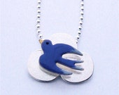 Bluebird and Cloud Necklace RESERVED