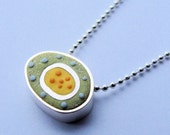 RESERVED Little Green Cell Necklace