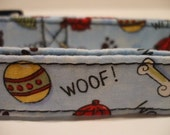 FREE SHIPPING - Collars With Curb Appeal - The Sky Is Blue Doggie Delight - SML