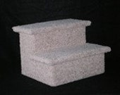 Pet Stairs - 2 Step - Dog Stairs - Dog Steps - Dog Stairs For Bed - Cat Stairs - Sturdy Pet Stairs - Carpeted Pet Stairs