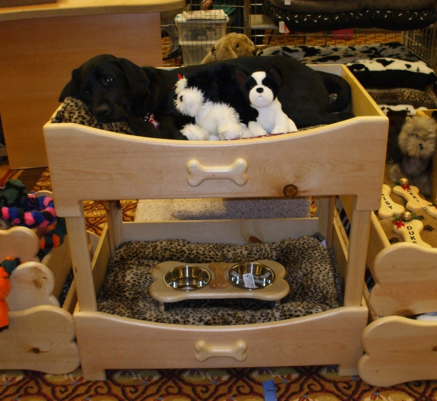Pet bunk beds size large 24 x 36 by woodinyou on etsy for Pet bunk bed gallery