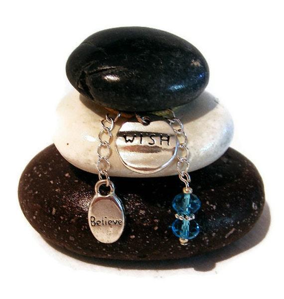 Wish Believe Rock Cairn, Good Luck, Best Wishes, Congratulations, New Job, Balancing Rocks, Daydream, Wishing Stones