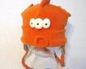 Bloop The Three Eyed Fish Hat- orange