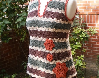 PATTERN for Charlene Crocheted Tunic