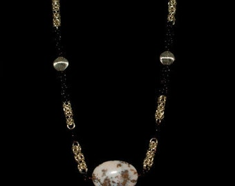 Byzantine Goldvein Chainmail Necklace