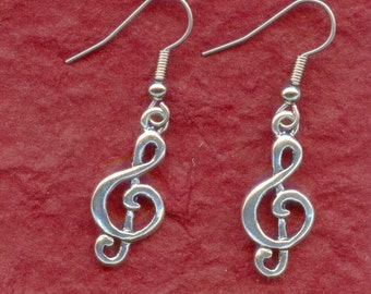Treble Clef Earrings Music Note
