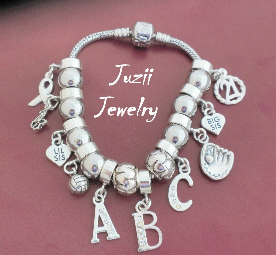 Sterling Silver 21st Birthday Charm Fits Most Bracelets By